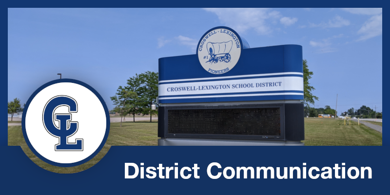 February 18,  2021 District Communication